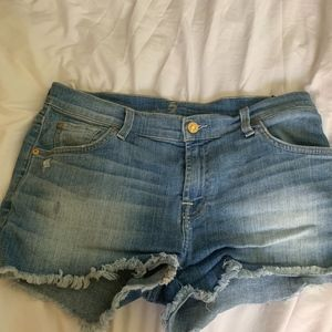 7 for all Mankind Distressed Denim Short Size 29